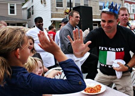 Belmar Mayor Matt Doherty Wins Pasta Eating Contest